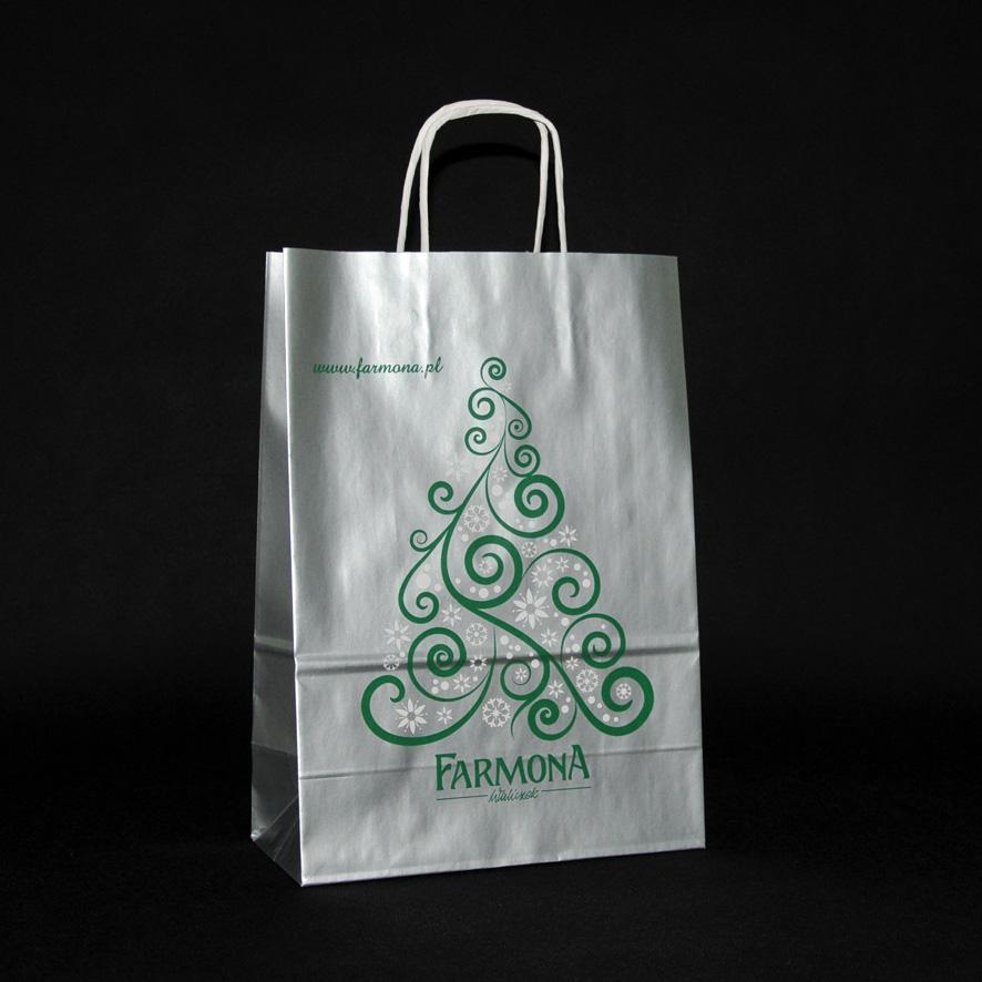świąteczna torba papierowa